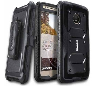 Case Moto E4 Plus Protector 360 Motorola Carcasa Usa+ Gancho