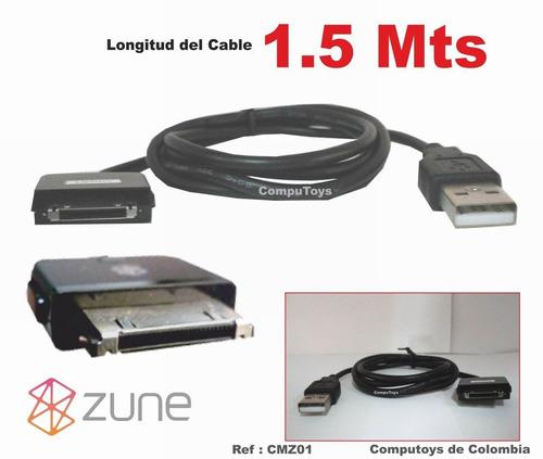 Zcmz01 Cable Usb Reproduc Microsoft Zune Qcmz01q Compu-toys