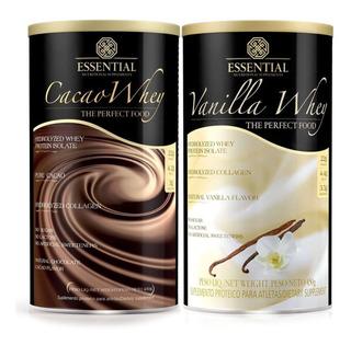 Kit (1 Cacao Whey + 1 Vanilla Whey) 900g - Essential Nutriti