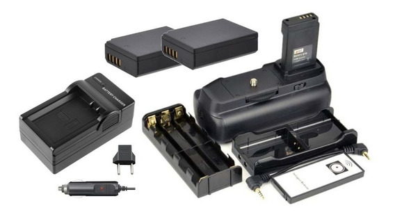 Kit Grip 1100dh + 2 Bat Lp-e10 + Carregador P Canon T5 + T6