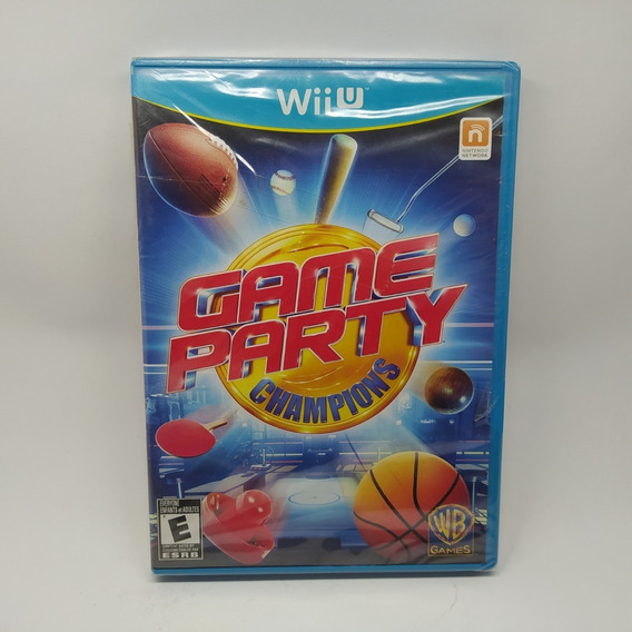 Game Party Champions Nintendo Wii U Lacrado Novo