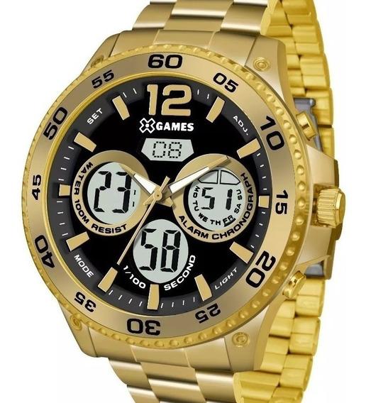 Relógio X-games Masculino Dourado Anadigi- Xmgsa005 P2kx