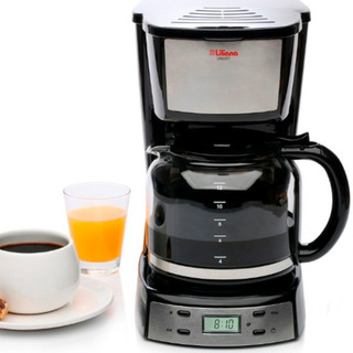 Cafetera Electrica Liliana Ac964 Timer Programable Acero