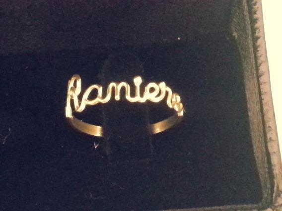 Anel Personalizado Nome Em Ouro18k Raniere