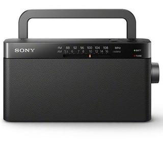 Rádio Analógico Portátil Sony Icf-306 Am/fm C/ Antena Novo