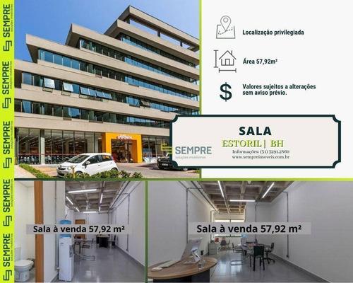 Imagem 1 de 13 de Sala À Venda, 57 M² - Estoril - Belo Horizonte/mg - Sa0152
