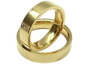 Joianete Par De Aliança Ouro 18k Reta 2 Diamantes -12g