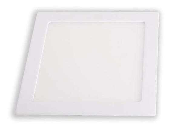 Kit C/ 4 Luminárias De Embutir Slim Led Quadrada 24w 6500k