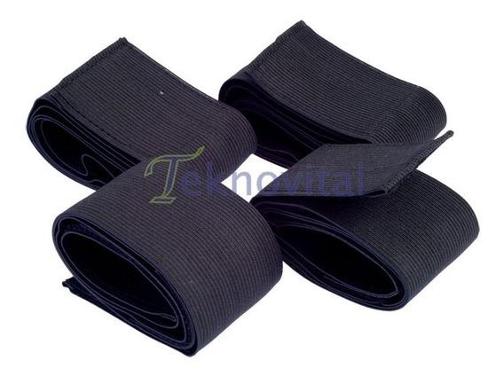 Bandas Elásticas Para Electrodos - 2 Cortas Y 2 Largas