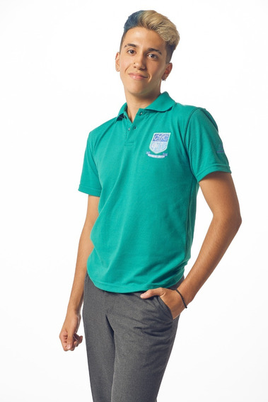 Chomba Pique Verde Colegial Personalizada