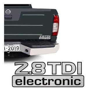 Emblema Adesivo 2.8 Tdi Electronic Nissan Frontier Traseiro