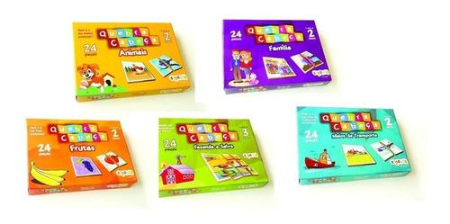 Imagem 1 de 11 de Kit Com 05 Quebra-cabeças