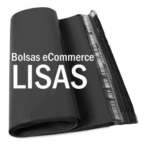 100 Sobres Bolsas Ecommerce Lisos Negro Nº2  30x40  Adhesivo