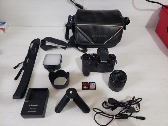 Panasonic Lumix G7 4k Touch + Lente Kit 14-42mm + Acessórios