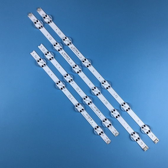 Barra De Led LG 43uj6565 43uj6525 Kit Completo Alumínio