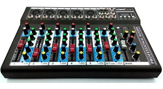 Mesa De Som 6 Canais Mixer Bluetooth Mp3 Player Digital Usb