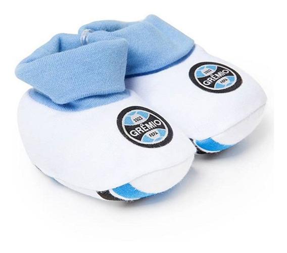Pantufa Revedor Grêmio Unissex Branco E Azul