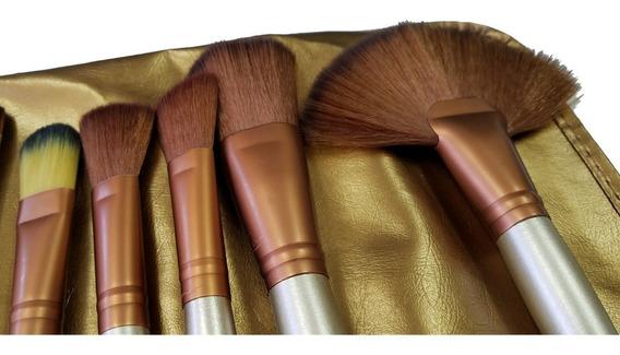 Bolsa 32 Pincéis Maquiagem Completo Top Muito Barato Marrom