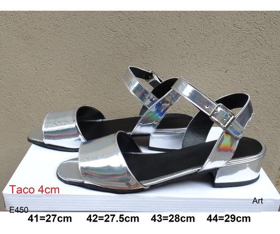 Sandalias Taco 4 Cm - Talles Grandes 41 42 43 44 - Art E450