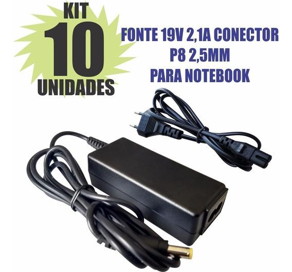 Kit 10 Peças Fonte Carregador 19v 2.1a Notebook
