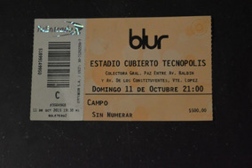 Blur 11 Outubro 2015 Buenos Aires Ingresso