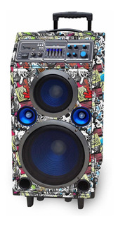 Parlante Portatil Kazz Fest F2 Karaoke 140 W Rms Bluet