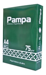 Resma De Hojas Pampa A4 75 Gr 500 Hojas Blanca
