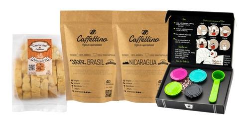 Imagen 1 de 1 de Kit Tentación África Nespresso Con Cantuccini