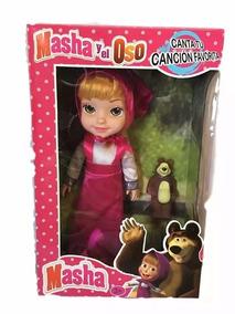 Masha E O Urso . - Boneca Musical Grande 27cm