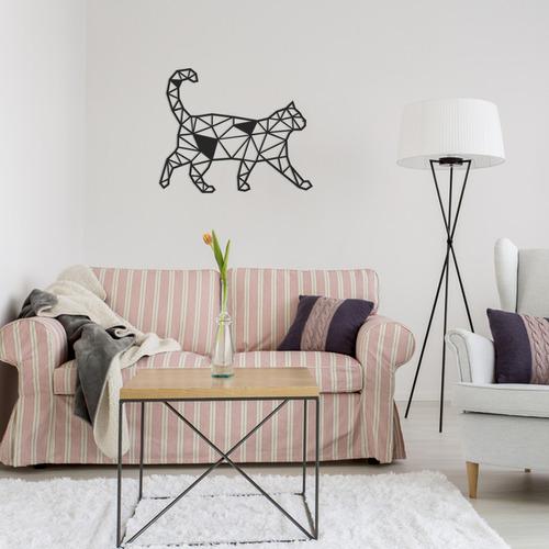 Quadro Decorativo Parede Animal Gato Minimalista 03 60cm