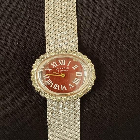 Relógio De Pulso Vintage Olympus Jewels Brilhantes