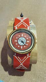 Relógio Artesanal Pulso Madeira Bambu - Feito A Mâo