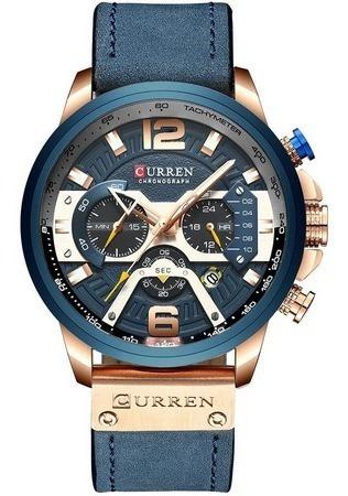 Relógio Esportivo Luxo Curren,100% Original, Todo Funcional