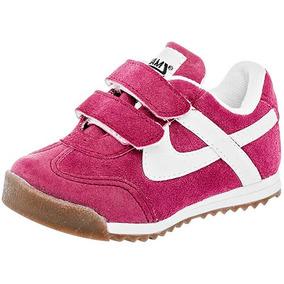 Tenis Sneaker Panam Niñas Textil Fucsia Blanco A67697 Dtt