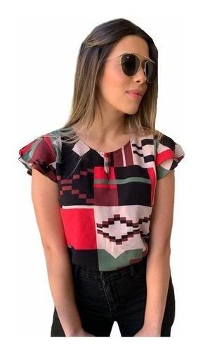 Blusa Blusinha Feminina Moda Evangelica Promoção Botão Shirt