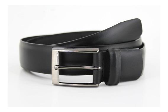 Evolución - Cinturón 17 De Piel Negro Y Hebilla De Vestir