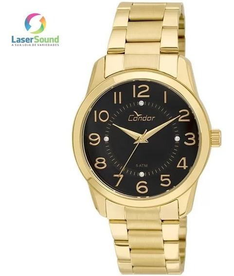 Relógio Condor Feminino Co2039ab/4p, C/ Garantia E Nf