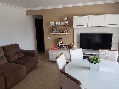 Excelente Apartamento Com 3 Dormitórios À Venda, 81 M² Por R$ 295.000 - Novo Mundo - Curitiba/pr - Ap6652