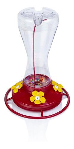 Imagen 1 de 6 de Bebedero Colibríes 4 Flores Transparente 470ml Alimentador