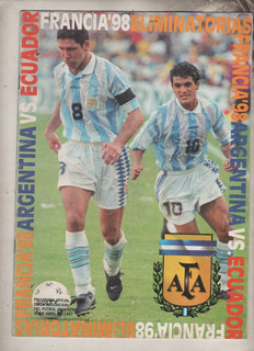 Programa Eliminatorias Francia 98 - Argentina Vs Ecuador