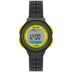 Relógio Infantil Digital Preto E Amarelo Limão Prova D
