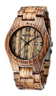 Bewell Zsw086b Reloj De Madera Para Hombre Reloj De Pulsera