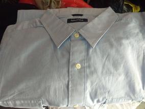 Camisa Manga Larga Azul Claro. Nautica