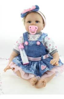 Bebé Reborn Muñeca Silicon Suave 55cm Osito Realista+despach