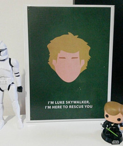 Quadro Poster Star Wars Luke Skywalker