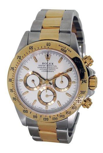 Relógio Bvr453 Daytona Branco Dourado Puls. Aço Mista