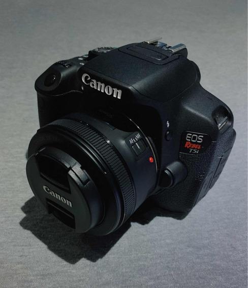 Canon Eos Rebel T5i + Lente Ef 50mm F/1.8 Stm
