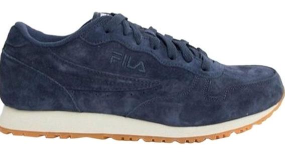 Tenis Sneaker Fila Euro Jogger Ii Azul Marino Gamuza 26mx