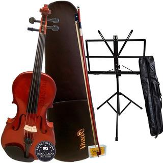 Viola De Arco Classica 4/4 Vivace Vmo44 Mozart + Estante