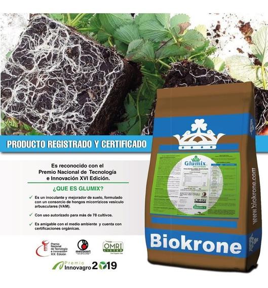 Biokrone Glumix 20kg Micorrizas Enraizador Mejorador D Suelo